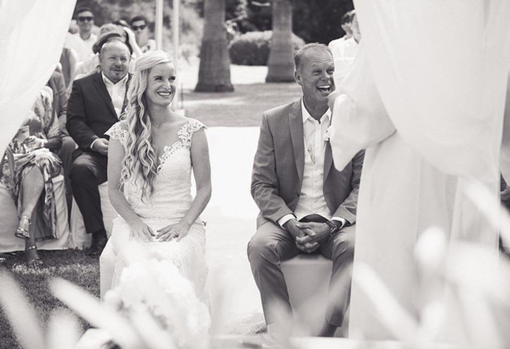 Internationale Hochzeit auf dem Land