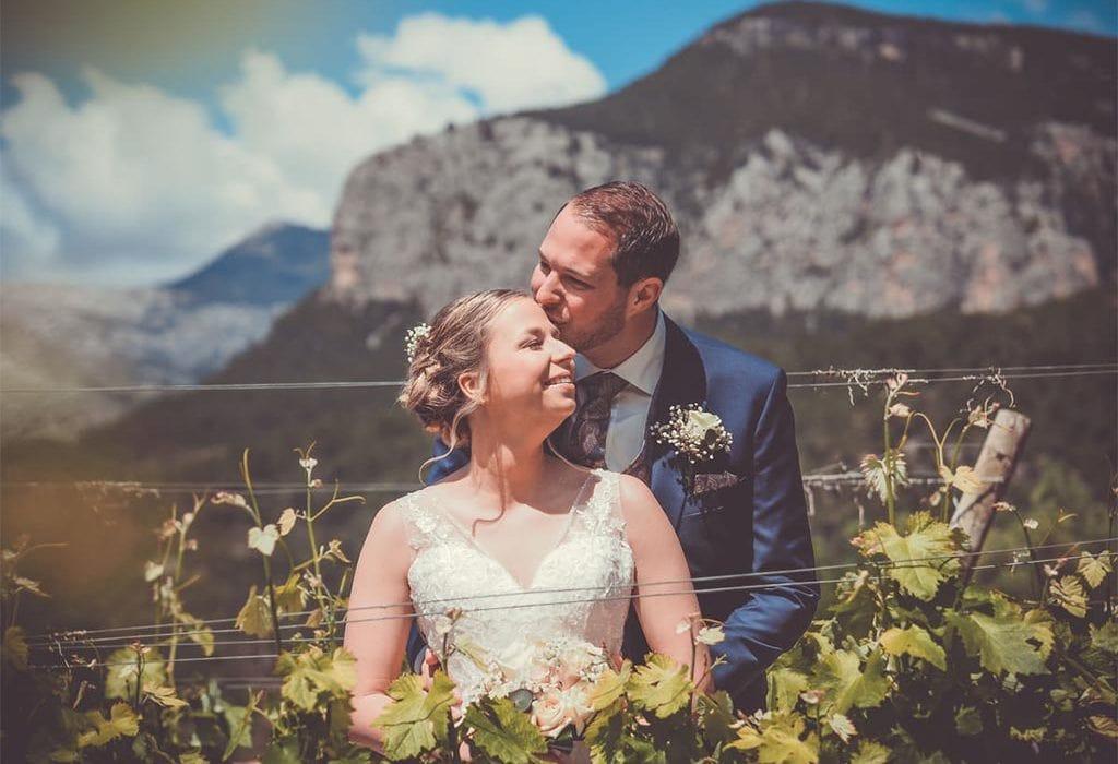 Sandrina und Claudio auf der Bodega Castell Miquel