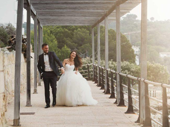 Hochzeitsfotos am Strand auf Mallorca