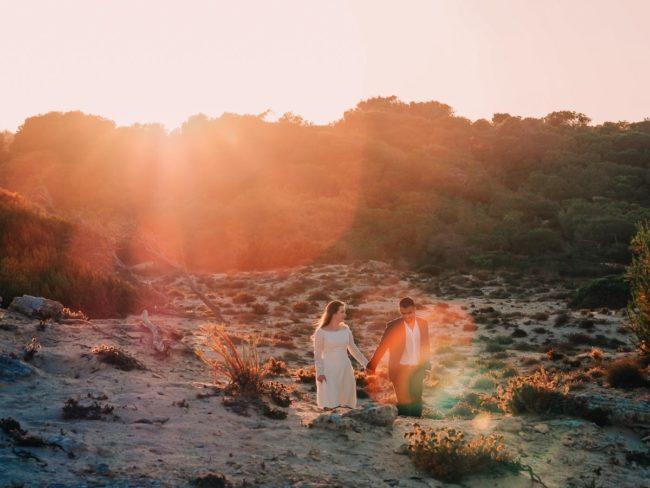Fotoshooting im Sonnenuntergang